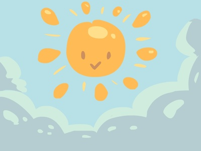 Here comes the sun vector illustration sun