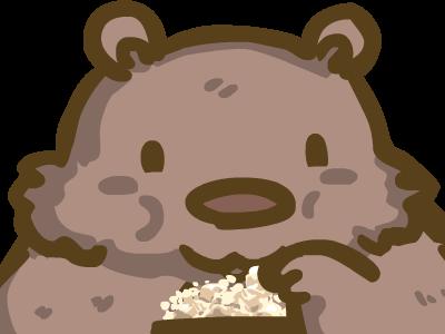 Bear Watching watching popcorn bear