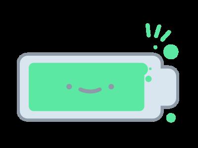 Happy Battery ui illustration