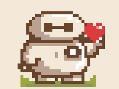 Pixels Baymax big hero baymax illustration pixel