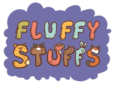 Fluffy Stuffs Logo animal logo design logo vector illustration