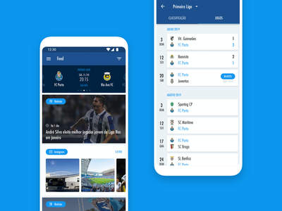 FC Porto Official App android ui ux ui design mobile club soccer football
