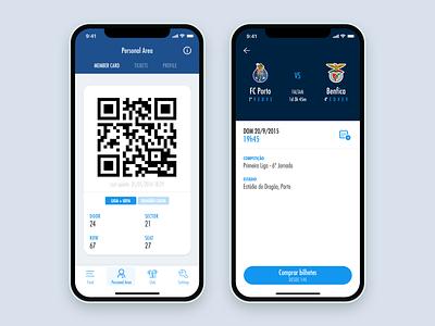 FC Porto Official App app ui ux mobile ui design club soccer football