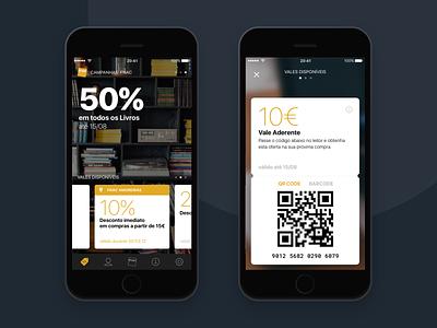 Fnac App dark theme ui design ui ux mobile loyalty fnac