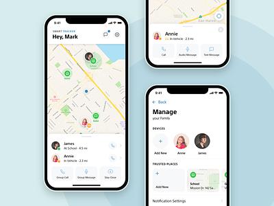 Smart Tracker Companion App mobile concept ui ux ui design wearables