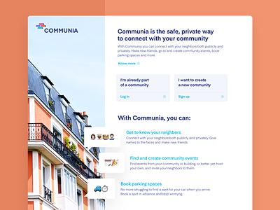 Communia - Local Social Network concept ui design responsive web social network community