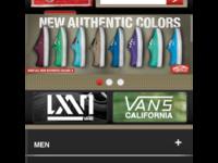 Vans Mobile redesign proposal