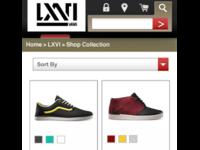 Vans Mobile Redesign: LXVI PLP