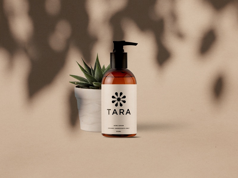 Branding for TARA visual design brandidentity branding cosmetics design cosmetic packaging cosmetic logo logo