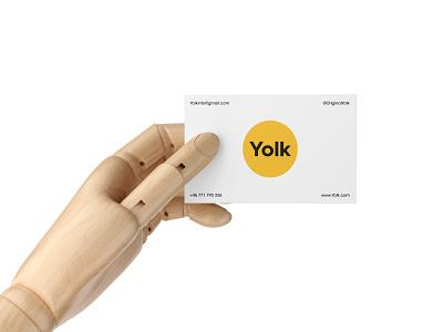 Business card design for Yolk geometric animal icon identity symbol experiment illustration branding designer design logo