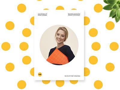 Poster Design For Yolk branding concept branding design brand design branding design