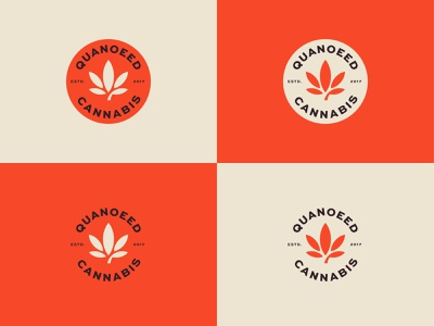 Quanoeed Cannabis symbol illustration branding designer design minimalist logo badgedesign badge logo