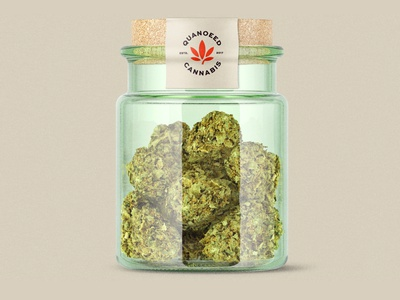 Marijuana Jar design for Quaneed Cannabis. brand design cannabis branding cannabis design cannabis logo mockup design logo marijuana
