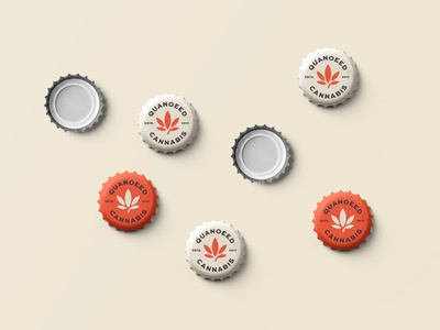 Beer Cap design for Quanoeed Cannabis identity illustration designer icon mark branding minimalism minimalist logo design logo beer art beer label