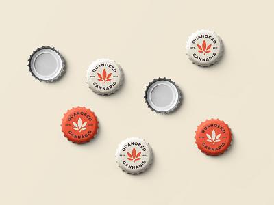 Beer Cap design for Quanoeed Cannabis identity illustration designer icon mark branding minimalism minimalist logo design logo beer art beer label