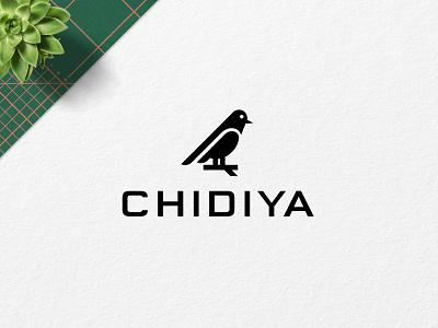 Chidiya logo design. design illustration experiment identity icon mark symbol branding logo minimalist logo bird logo bird