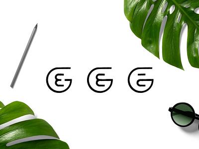 G + E Monogram identity mark logosketch sketch illustration branding designer design logo e monogram g monogram monogram