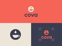 Cova Coffee logo design.