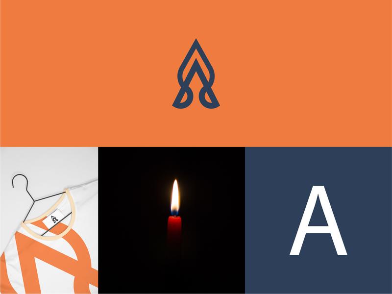 ahsas clothing logo typography animal web ux logo a day geometric identity mark icon experiment branding illustration design designer logo