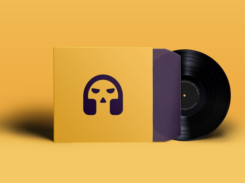 Record And Cover design identity icon design designer branding skull and crossbones skull logo skull art skull logo record label covers cover design cover artwork cover art record