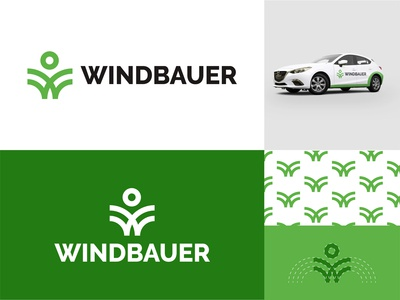 Windbauer logo design
