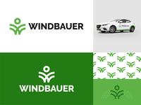 Windbauer logo design