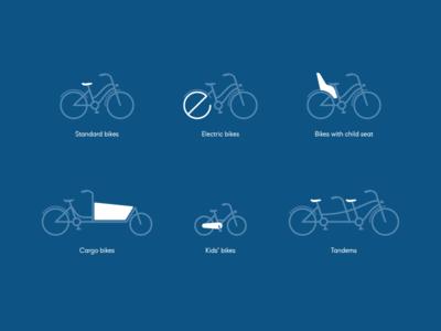 Bikes Icon Set