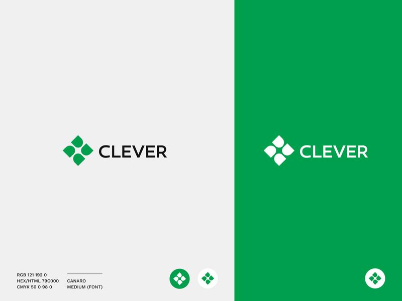 Clever Logotype logodesign clever logo design company logo mockup pattern color logotype logo
