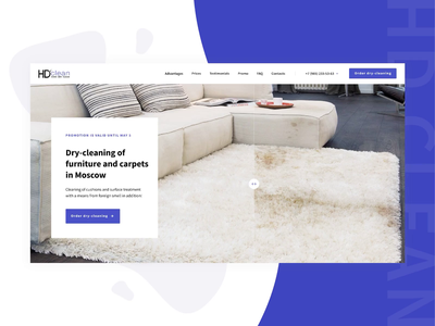 HD-Clean Company cleaning light colors bright color redesign website interface motion grid agency ux ui dry cleaning animation company webdesign
