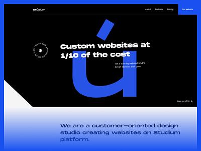 Studium ui typography webdesign design art animation digital logo agency company