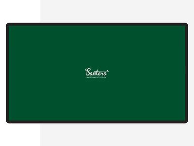 Santero agency company website interior animation motion landing ui corporate