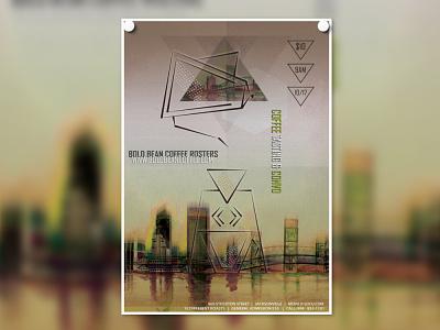 Bold Bean Coffee Roasters Poster poster design digital design print design