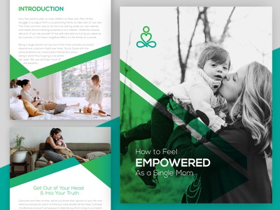 How to Feel Empowered as a Single Mom ebook ebook design lead generation lead magnet digital design