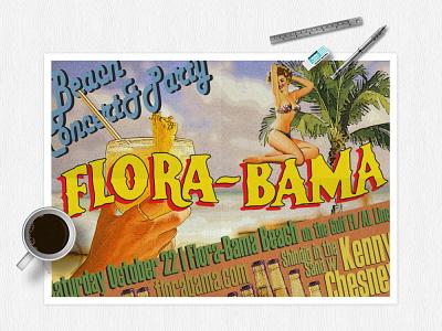 Flora-Bama Promo Poser [College Project] poster design digital design