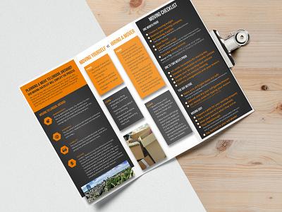 Ontario Mover Trifold digital design print design trifold trifold brochure