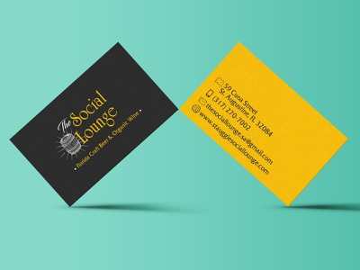 The Social Lounge Business Cards print design digital design brand and identity business card