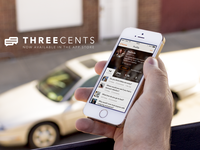 Three Cents Launch & PSD freebie app ios ios7 ui ux threecents launch featured psd iphone 5s download free