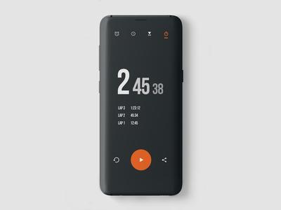 Clock App UI design concept