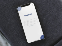 Facebook login UI Redesign