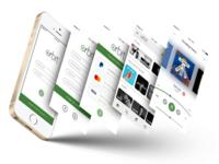 Music App UI design concept