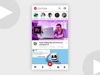 YouTube UI Redesign