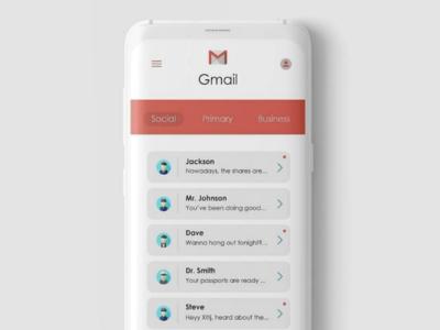 Gmail App UI Redesign