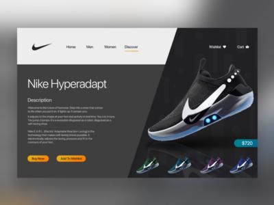 Nike Website Design concept