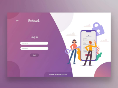 Login Web design concept