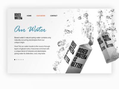 Boxed Water website design