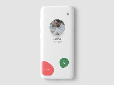 Incoming call UI design ui ux design minimal app