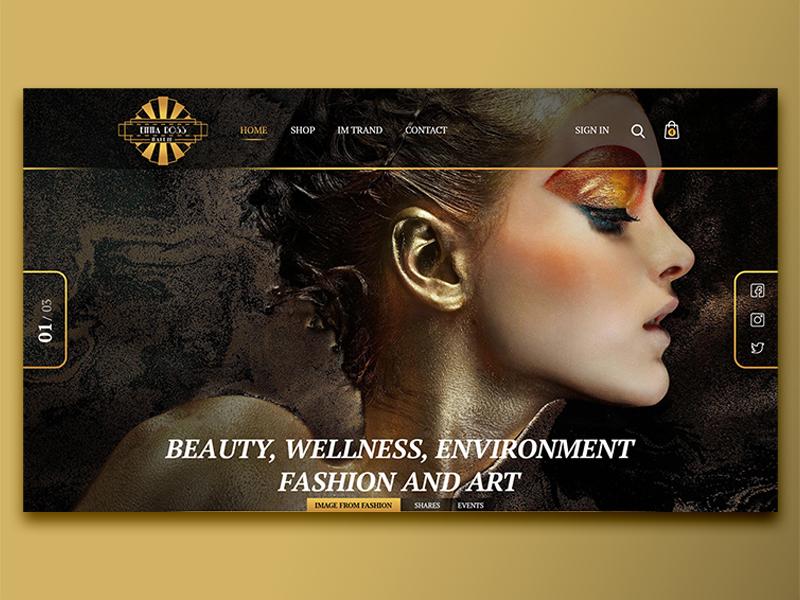 EMMA ROSS | Makeup branding identity web design ux ui logo web design