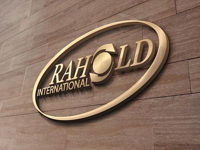 Rahold logo mouckup visual design design branding typography logo design logo graohic design