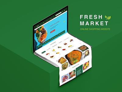 Fresh market web design webdesign ui design ux design visual design