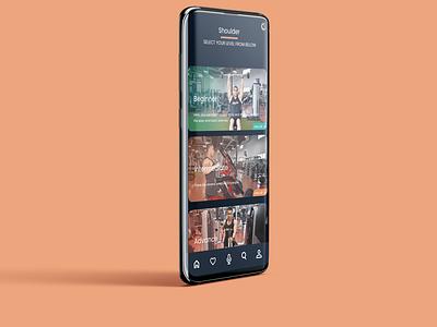 GymPlus fittness app mobile app design app logo design branding visual design